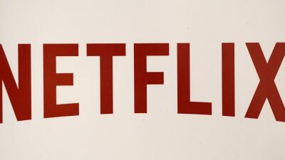 The Netflix logo is pictured on September 15, 2014 in Paris. US online s...