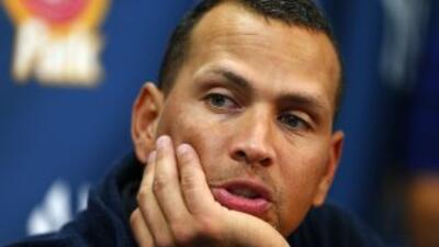 El beisbolista Alex Rodríguez, de los Yankees de Nueva York.
