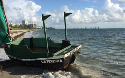 Los cinco cubanos llegaron el martes en la mañana en una embarcac...