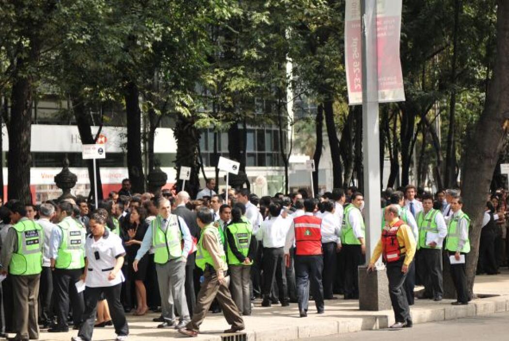 Millones de habitantes de la Ciudad de México participaron en un simulac...