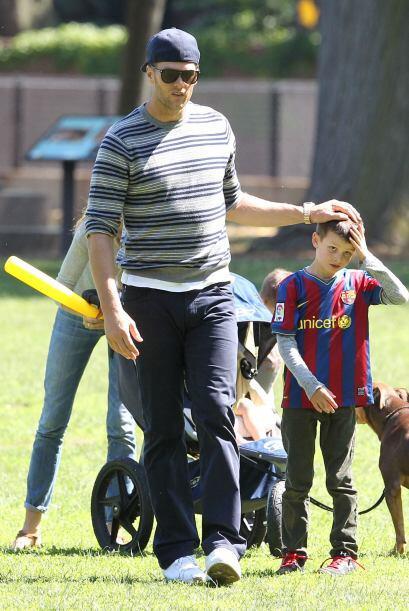 Juntos estuvieron disfrutando muy divertidos en un parque de Boston.