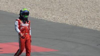 En el GP de Alemania, Massa sufrió un accidente.