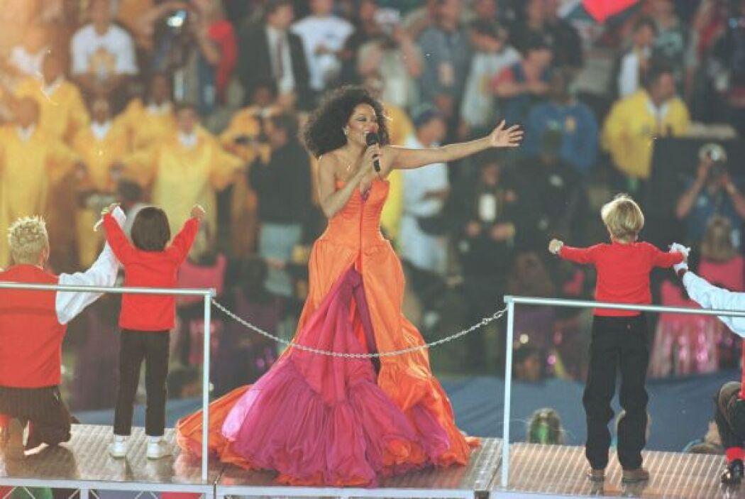 En 1996 Diana Ross se apoderó del escenario en el Estadio de Arizona en...