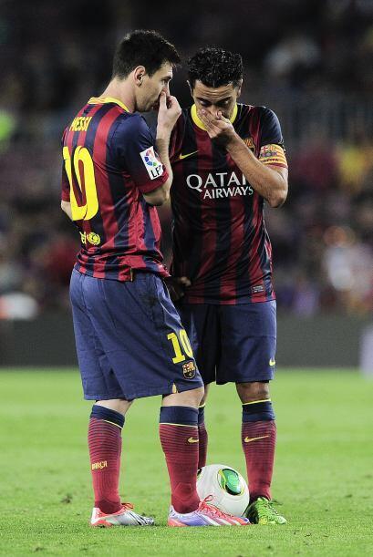 Para el complemento, Messi y Xavi se ponían de acuerdo para revertir la...