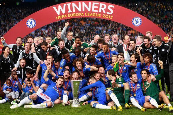 La clásica imagen del campeón, Chelsea, ganador de la Liga...