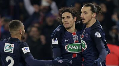 Cavani felicita a Ibrahimovic