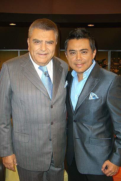 Raúl Brindis en compañía de Don Francisco.