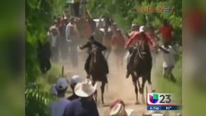 Las carreras de caballo clandestinas en Cuba