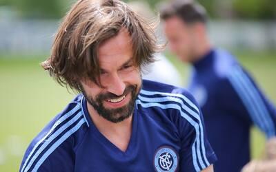 Andrea Pirlo, durante un entrenamiento en Salt Lake City.