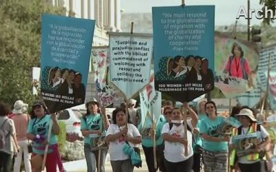 Mujeres en Dallas saldrán a marchar para exigir respeto al presidente el...