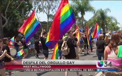 Gran celebración del orgullo gay en LA