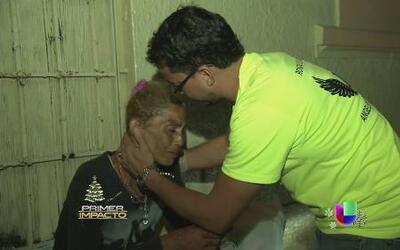 El ángel de los desamparados en las calles de Puerto Rico