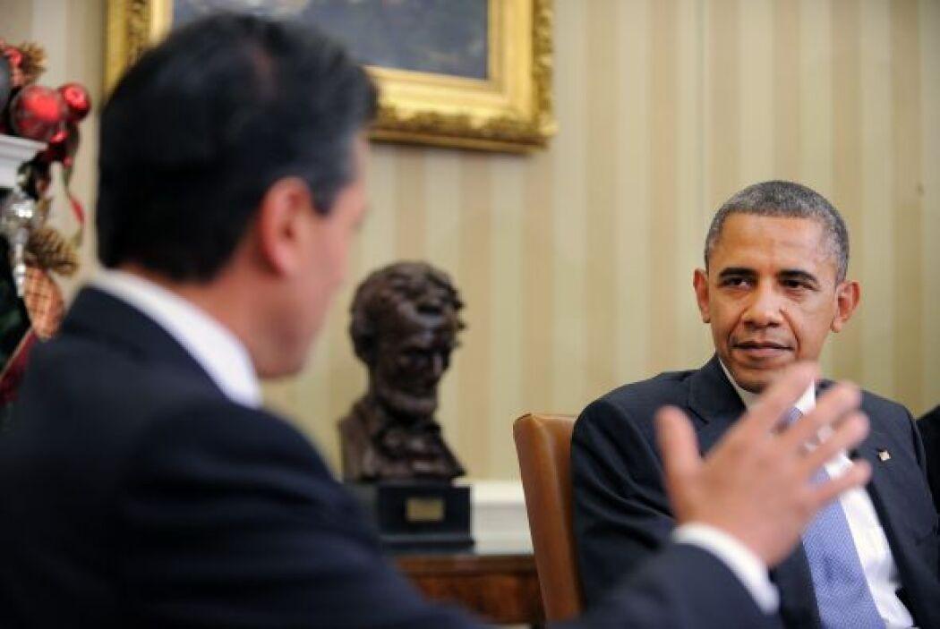 En su encuentro con el mandatario de la Unión Americana y sus respectivo...