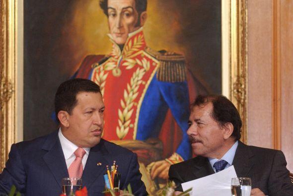 Daniel Ortega. El presidente de Nicaragua apoyó a Chávez en su campaña d...