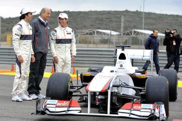 El nuevo equipo Sauber para la temporada de Fórmula 1 del 2011, con el d...