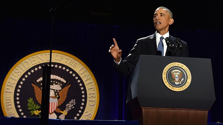 Obama hace un llamado a defender la democracia en su último discurso com...