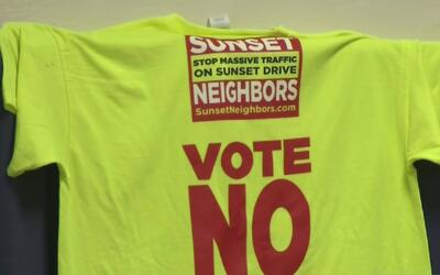 Residentes del vecindario Sunset se reunieron para hablar de la construc...
