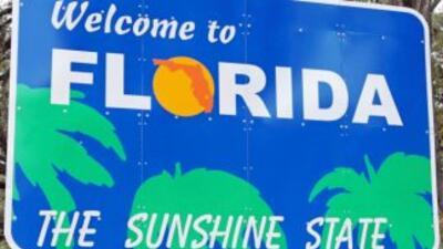 """Letrero """"Welcome to Florida"""""""