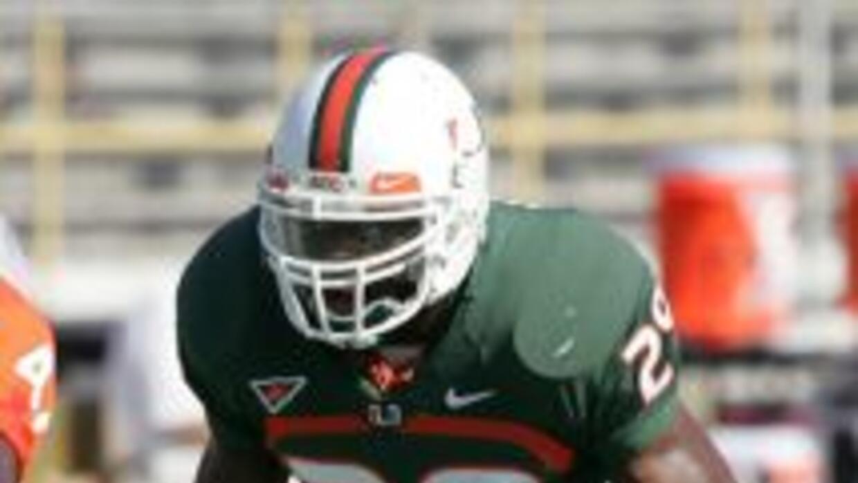 El ex jugador de fútbol de los Canes de la Univeridad de Miami, Jojo Nic...
