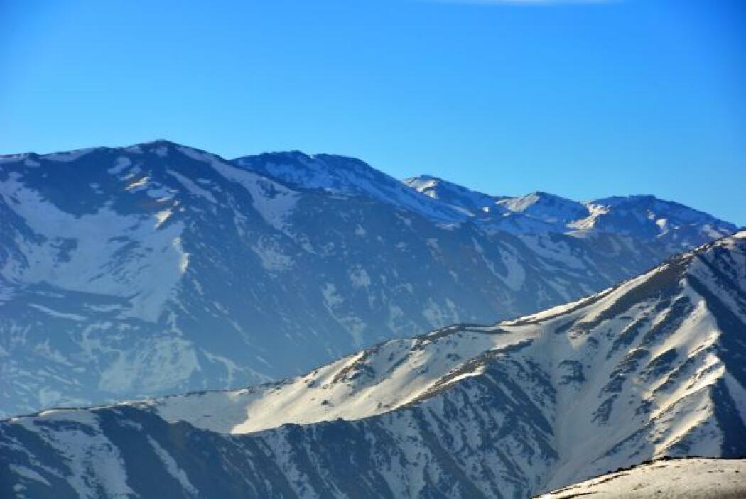 La impresionante cordillera de los Andes desde el lado chileno.