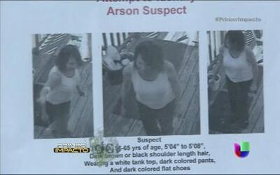 Una cámara de vigilancia sorprendió a una mujer que provocó un incendio