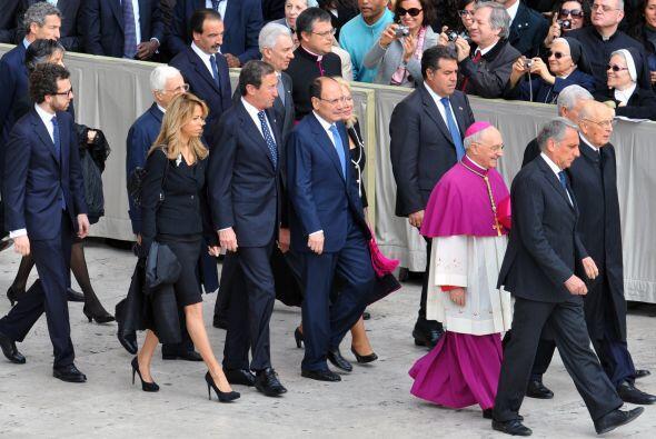 Dignatarios de todas partes del mundo llegaron al Vaticano.