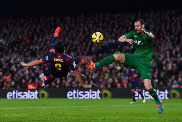 El gol de la noche se lo llevaría Luis Suárez, el charr&ua...