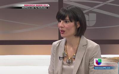Ingrid Vila habla en primicia tras su renuncia a la secretaría de la gob...