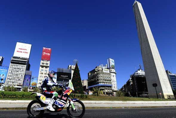 El Obelisco de la Avenida 9 de Julio fue el testigo de la partida de la...