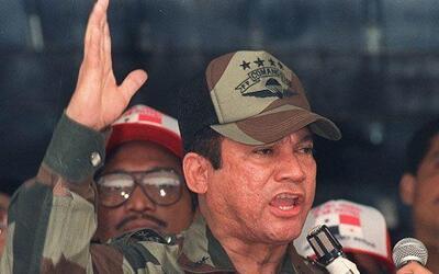 Panamanian strongman Gen Manuel Antonio Noriega surrendered during the U...