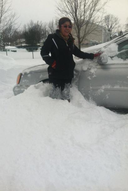 Alicia Garcia cuenta que su coche se atascó y ya no pudo salir.