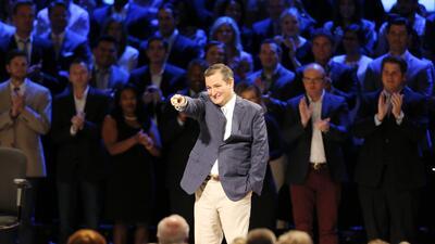 Ted Cruz en un evento reciente en Plano, Texas