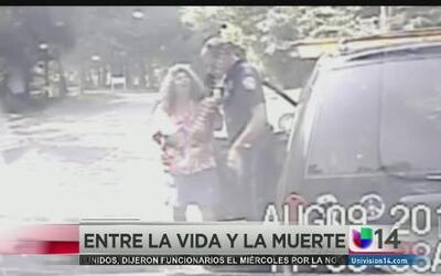 Un policía y un instante la separaron de la vida y la muerte