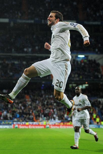 Los goles no paraban de darse en el Bernabéu. El argentino Gonzal...