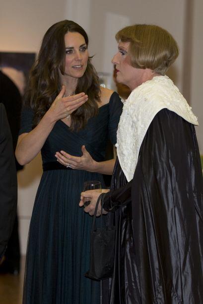 En cuanto al arreglo de su cabellera, Kate se inclinó por un lige...