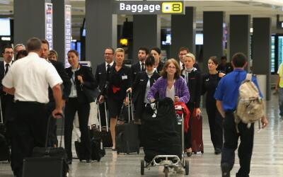 Aeropuerto Texas (Imagen de archivo)
