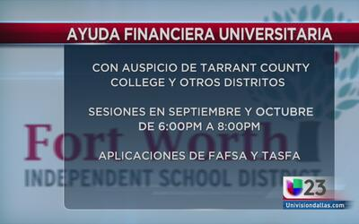 Ayuda financiera para universitarios