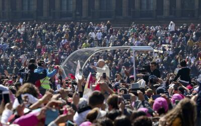 El recorrido del Papa por Ciudad de México el sábado.