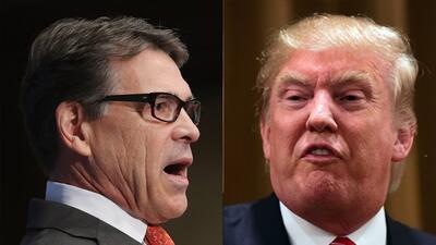 Rick Perry y Donald Trump quieren la candidatura republicana