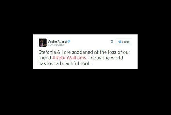.Andre Agassi, compartió una fotografía del actor. El ex tenista jugaba...