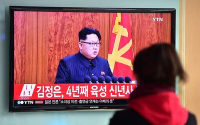 Kim Jong-un en televisión