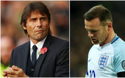 """Antonio Conte defiende a Wayne Rooney: """"Los jugadores necesitan libertad"""""""