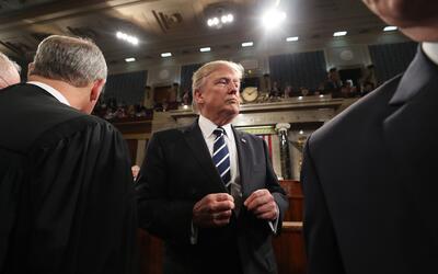 El presidente Trump estrenó un tono 'presidencial' que no se le...