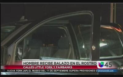 Hombre baleado en el rostro por su camioneta