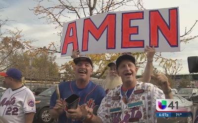 Mets son recibidos por aficionados en NY