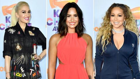 Gwen, Demi, Mariah y más famosos que llegaron a los Kids' Choice...
