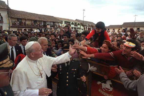 Colombia fue otro de los destinos el líder de la Iglesia.