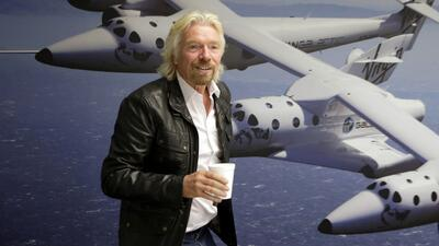 "Sir Richard Brandson dice que Virgin Galactic ""Es un riesgo que vale la..."