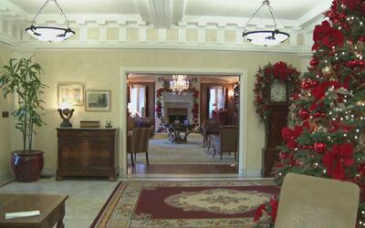 En la Casa Rosa de Pasadena se ultiman los detalles para el tradicional...
