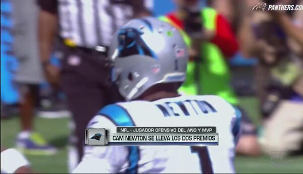 Cam Newton se llevó 2 premios, Jugador ofensivo del año y MVP de la NFL